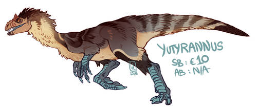 Yutyrannus Adoptable by LiLaiRa