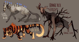 Spooky Adoptables STRANGE DEER STILL AVAILABLE