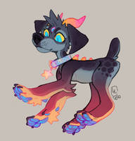 Sparkly Hell Pupper AUCTION