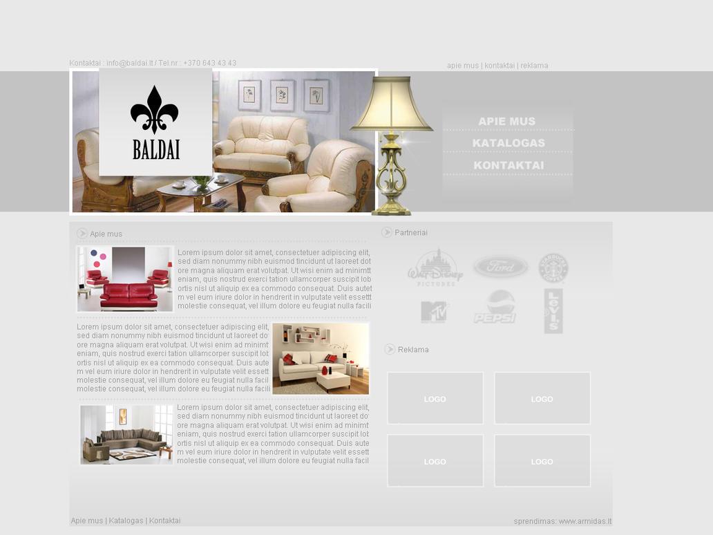 furniture company web design by armidas on deviantart