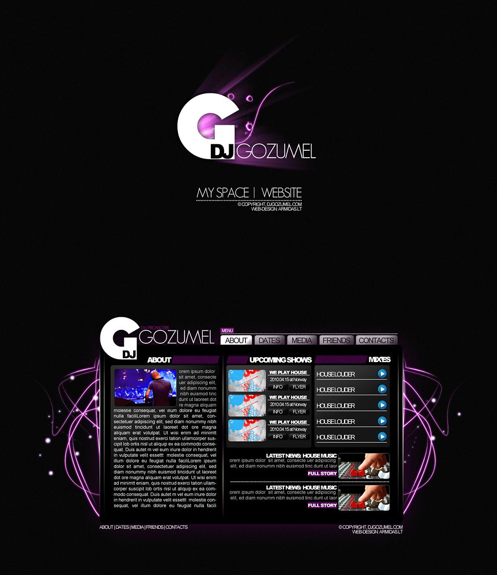 web design DJ GOZUMEL by Armidas on deviantART