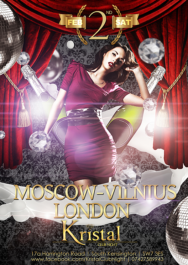 Night Club Kristal London Flyer by Armidas on DeviantArt