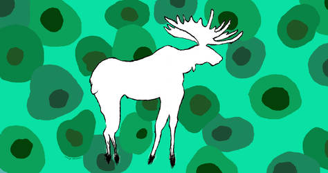 mspaint moose by MangoMendoza