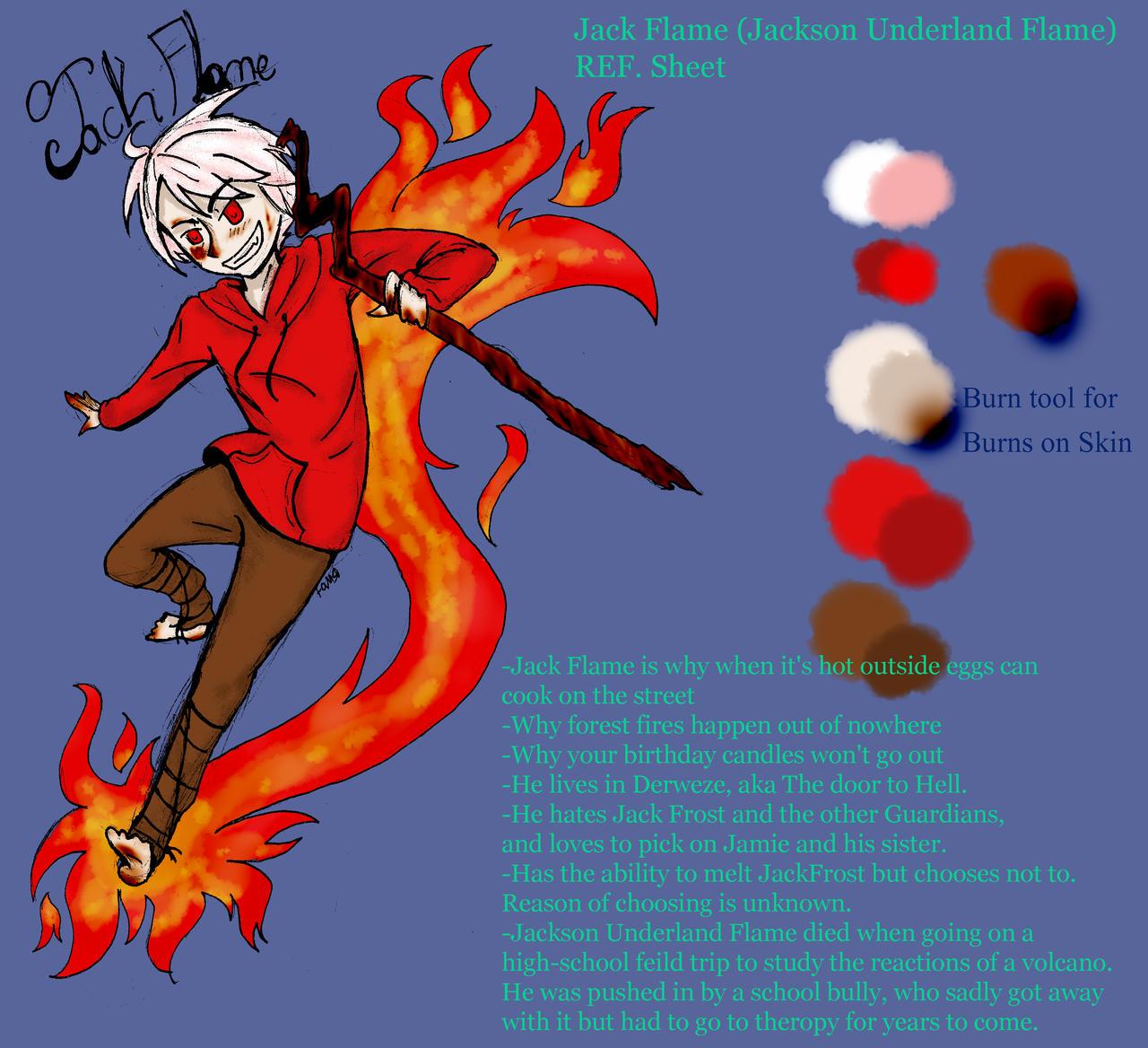 Jackson Underland Flame reference sheet by NinjaNekoAru