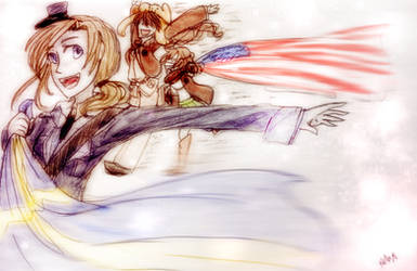 (Fem!Pewkencry) Race the flags by MotherofOnity