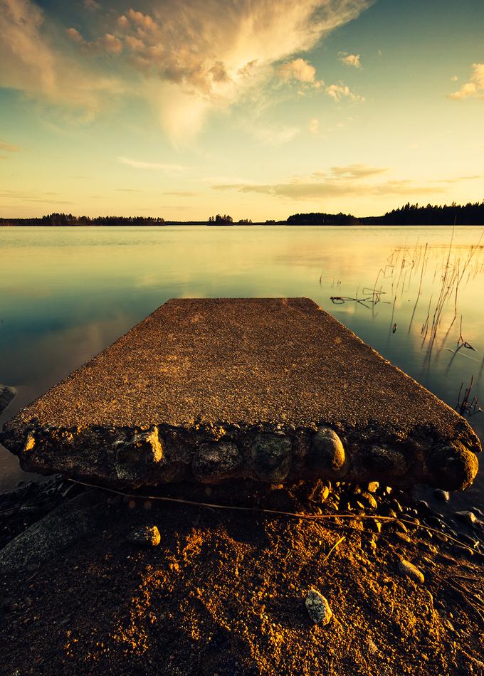 Summer evening on the shore by JoniNiemela