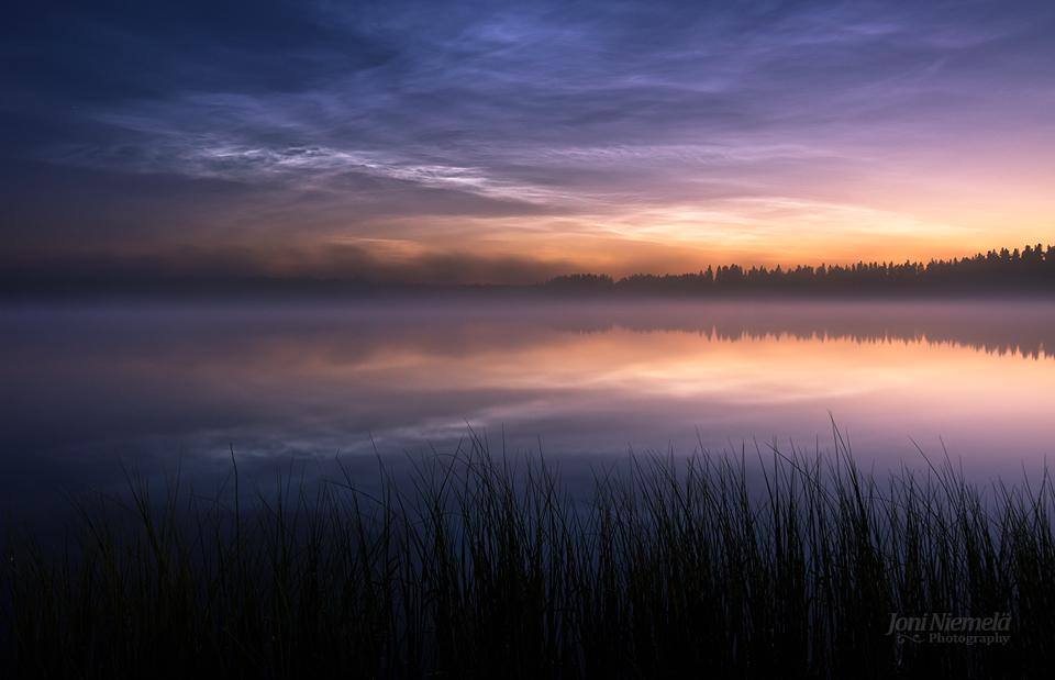 Night Clouds Over The Lake by JoniNiemela