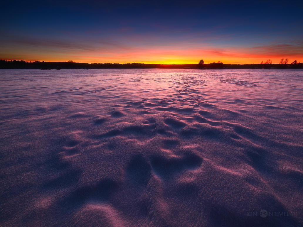 Purple Snow by JoniNiemela