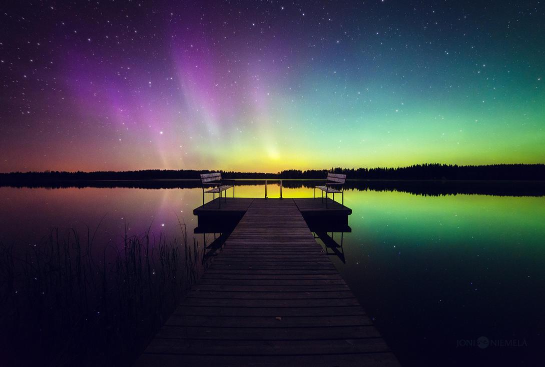 Between Purple And Green by JoniNiemela