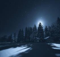 Barns Under The Moonlight