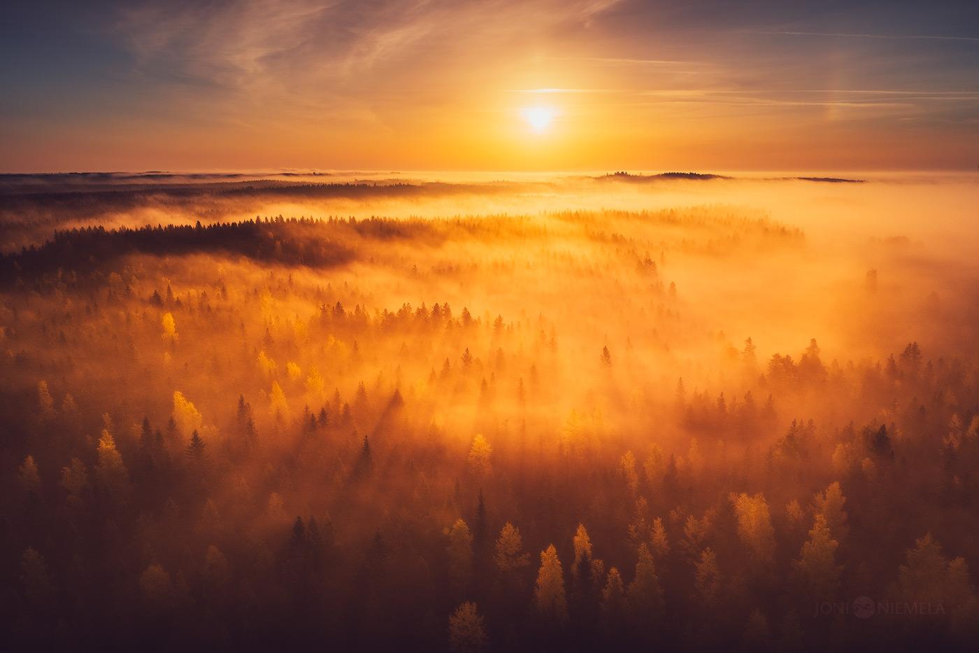 Autumn Sunrise by JoniNiemela
