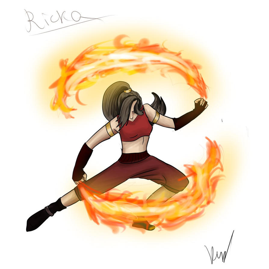 Ricka firebender by Vinelly-De-Sun
