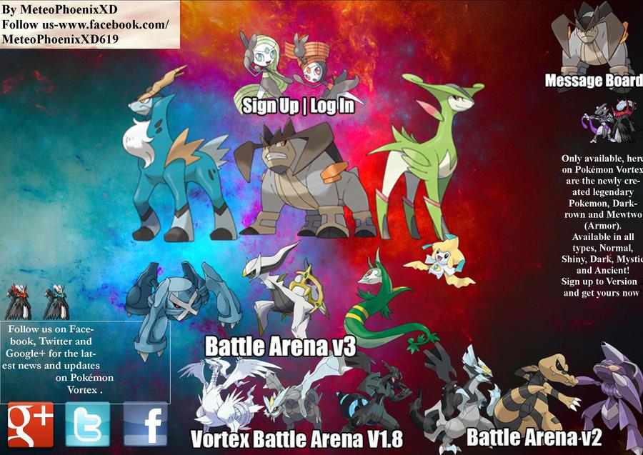 Pokemon Vortex Homepage V4 By Meteophoenixxd On Deviantart