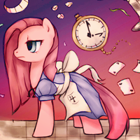 Pinkamena in Wonderland - Skype Icon by Nattsu-San