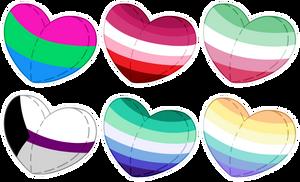 [F2U] Pride Hearts #2
