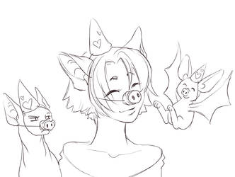 Big ear girls snout party! by DictatorCat