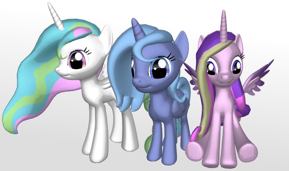 Princesses by PonyLumen