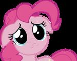Pinkie sad face vector