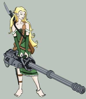 Elven Gun Porn Colorized