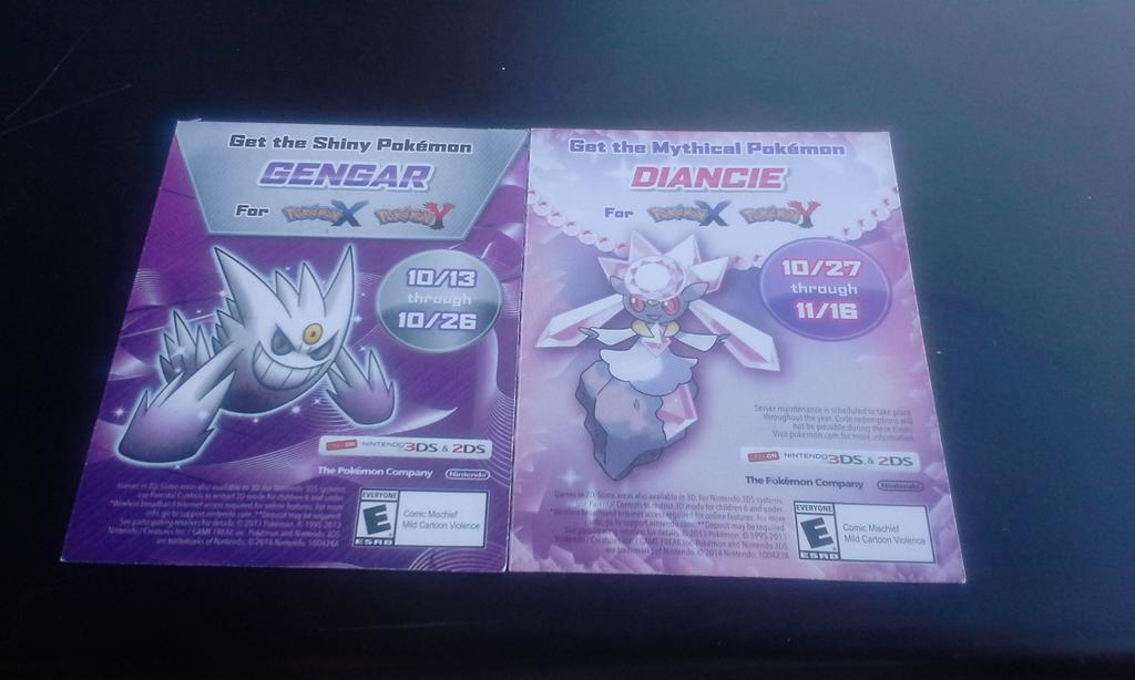 I got Shiny Genger and Diancie cards. by FunnyGamer95