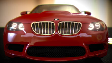 BMW M3 Keychan Red front by thevoidreamer