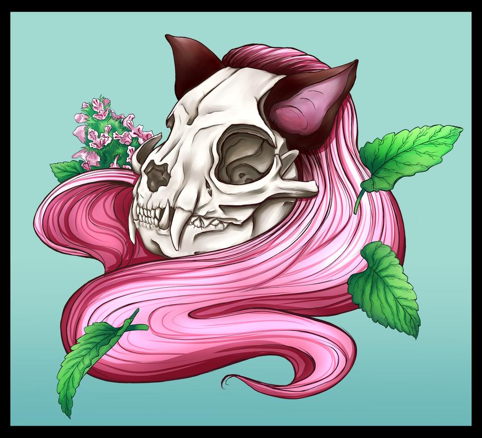 Neko skull girl: Catnip by Soficathie