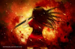 Blood in the flames by TrappedGirl