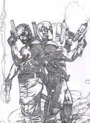 Deadpool-Punisher Final by druje