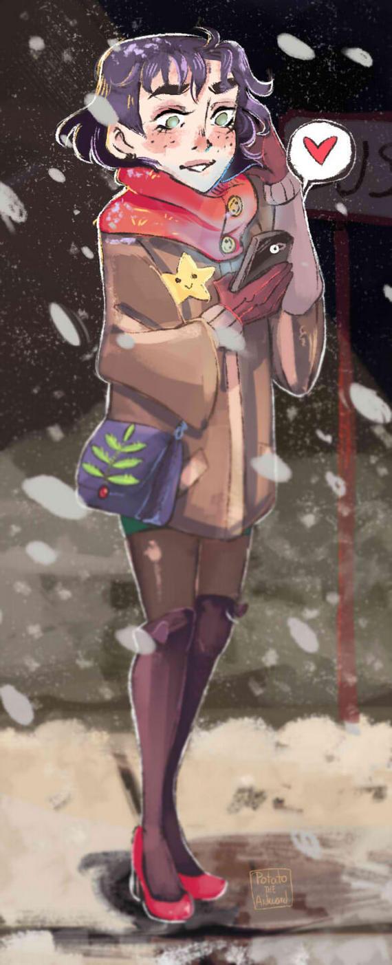 Snowy evening by Potato-the-Awkward