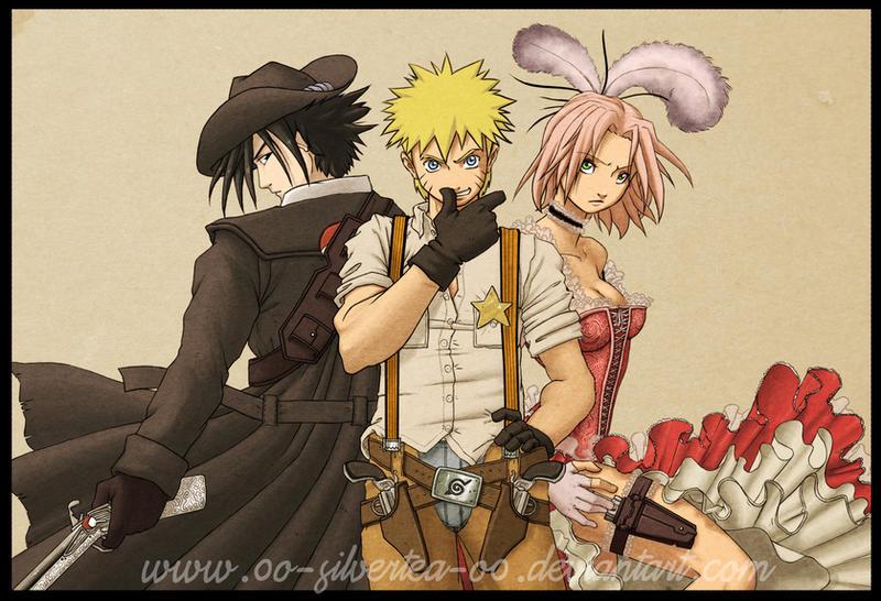 0o-Naruto_WildWest-o0 by silverteahouse