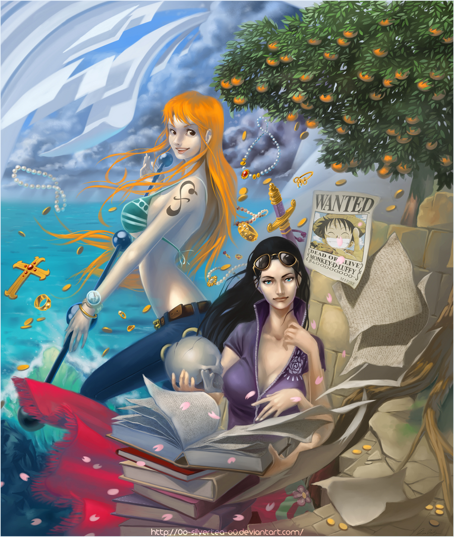 OP: Nami and Robin by silverteahouse