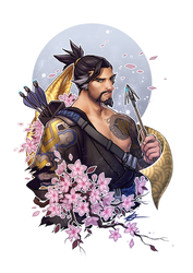 OW-Sharpshooters-Hanzo by silverteahouse