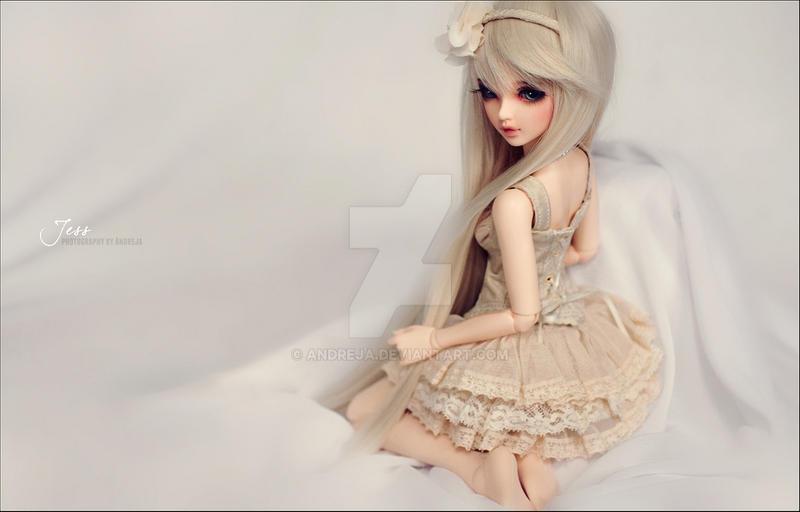 Jess in Cream Dress by AndrejA
