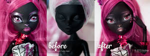 Before and After - Catty Noir Repaint