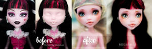 BeforeAfter + Youtube Video - MH Draculaura