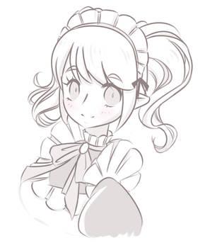 Cute maid elf girl