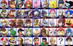 Super Smash Bros. 4 - Realistic Roster