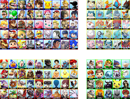 Super Smash Bros. Wii U / 3DS - Complete Roster by follyoftheforbidden