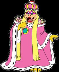 Queen Koopa Peach by thieviusracoonus