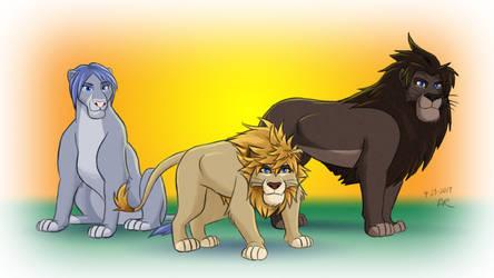 Wayfinder Trio as Adult Lions by thieviusracoonus