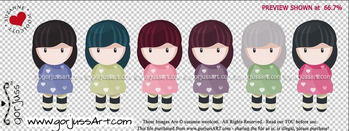 The gorjuss Mini Sweeties by gorjuss