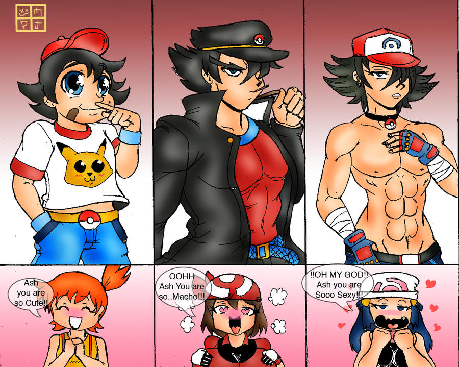 Pokemon Ash and Misty May Dawn