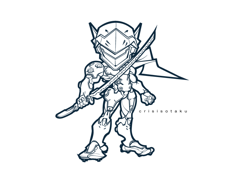 Overwatch genji by yourcris on deviantart for Overwatch genji coloring pages