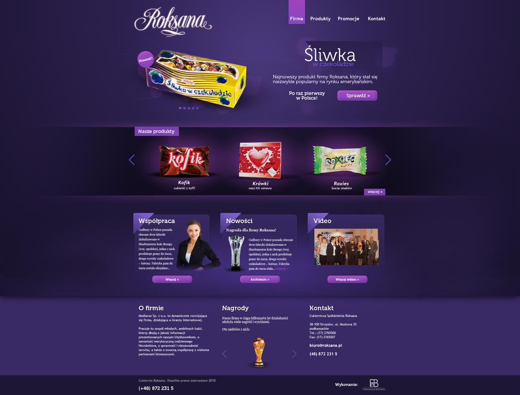 Roksana   A preview by Amaroczek Creatively Inspired Web Interface Designs