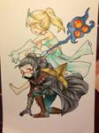 Collab Commission: Vayne and Janna