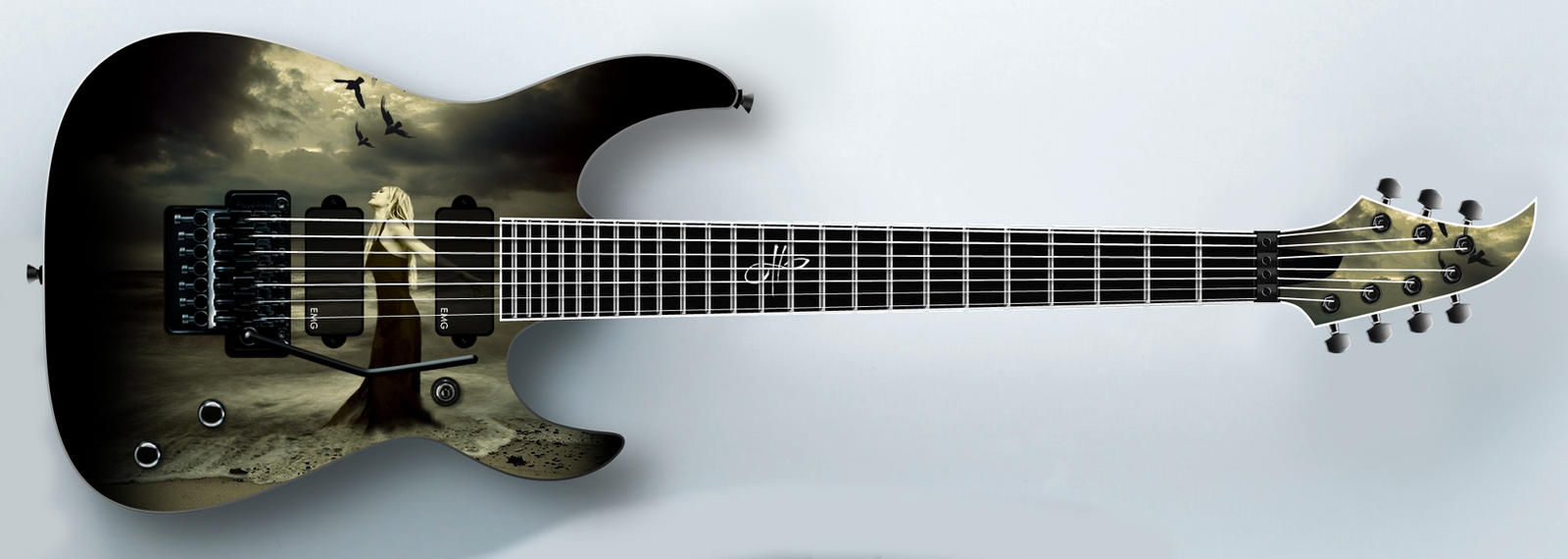 Artwork Guitar design 2 by Chatterly