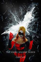 Rosanna Pansino as Harley Quinn Dark Knight Poster by mannitt