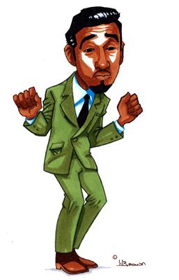Sammy Davis Jr Caricature by WarBrown