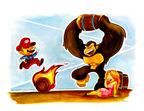 Donkey Kong by WarBrown