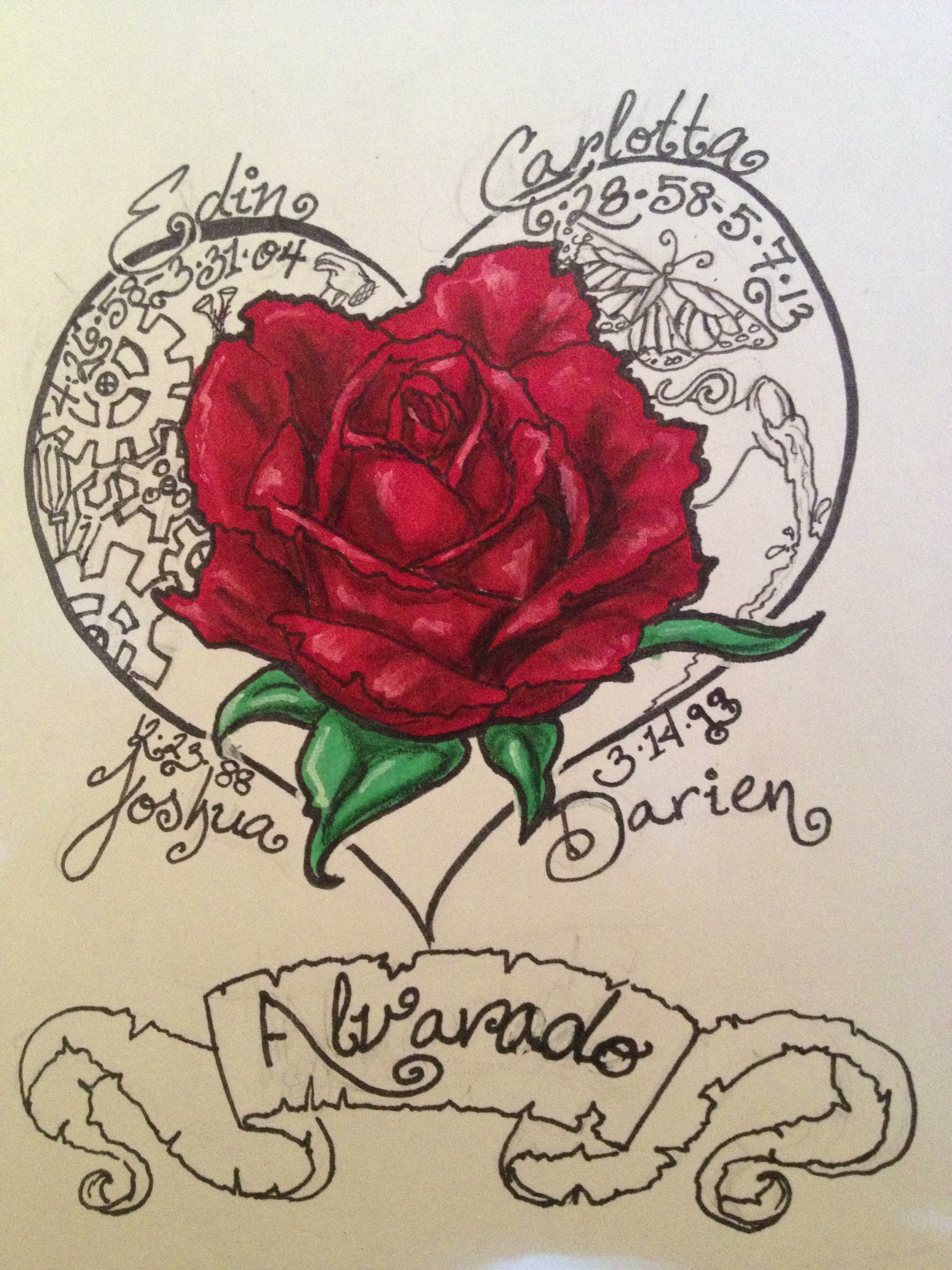 alvarado family tattoo design by aliaa613 on deviantart
